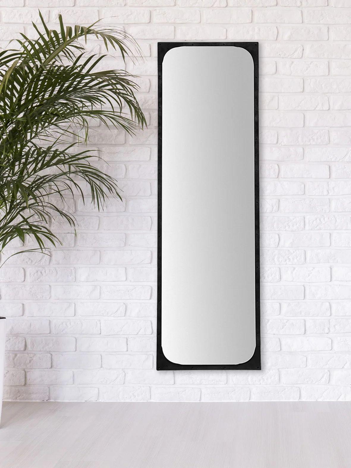 Miroir Rectangulaire Industriel Gustav Noir L 140 X H 40 Cm Leroy Merlin