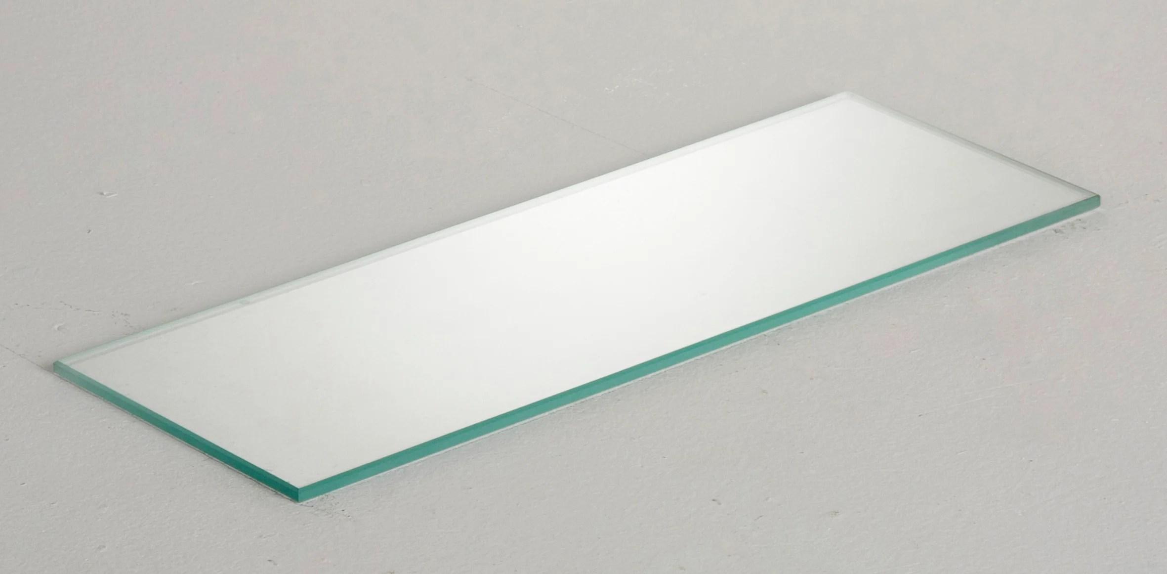etagere murale verre transparent l 60 x p 15 cm ep 6 mm