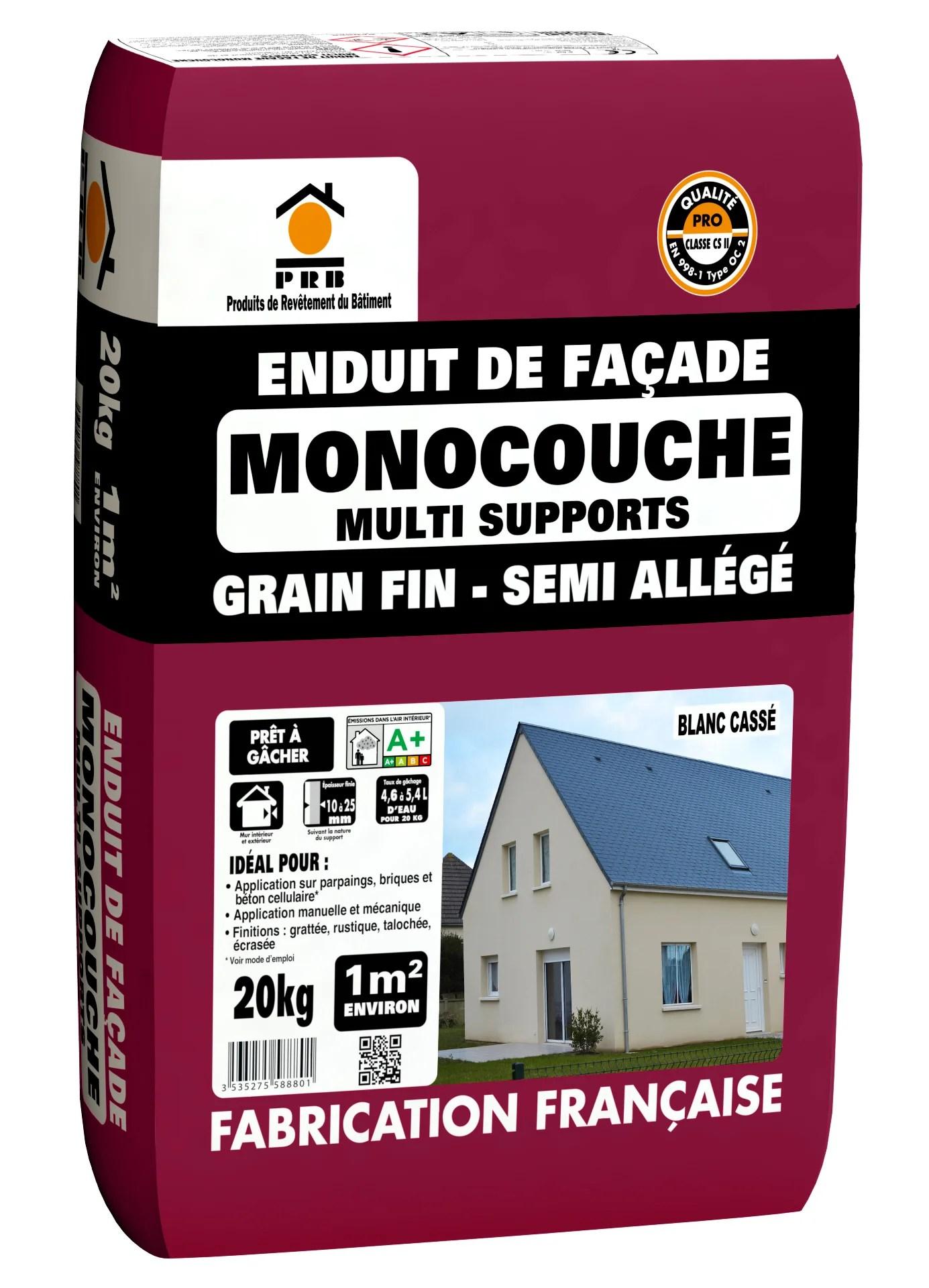 Enduit Monocouche Blanc Casse Prb 20 081 Kg Leroy Merlin