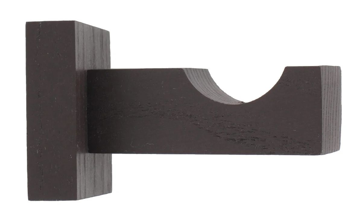 support tringle a rideau chic 28 mm wenge brut inspire