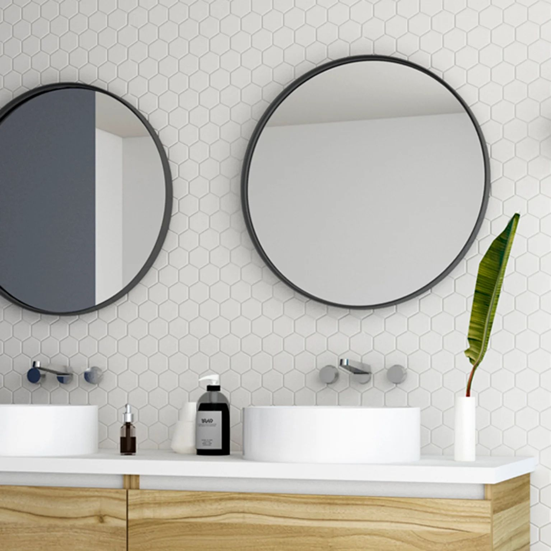 Miroir Encadre L 60 X H 60 Cm Diam 60 Cm Noir Randal Noua Leroy Merlin