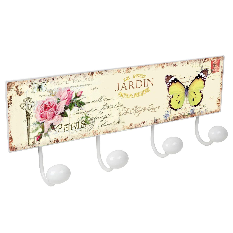 Portemanteau Nesu Papillon 4 Pateres A Visser Metal Blanc Leroy Merlin