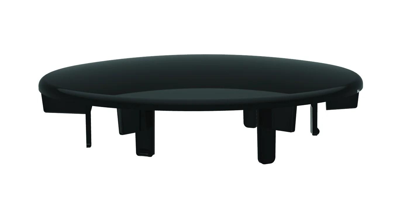 capot abs noir d 116 mm pour bonde