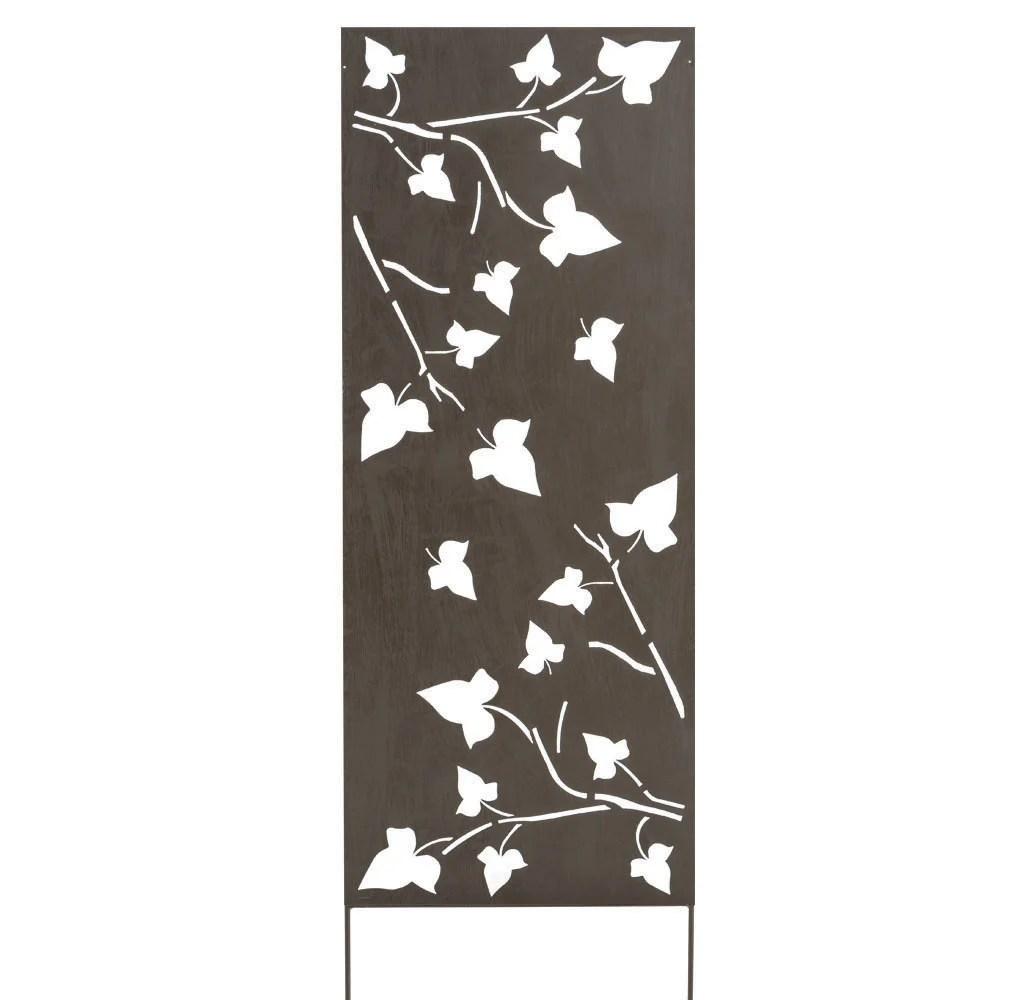 Panneau Metal Decoratif Feuille L 60 X H 150 Cm Leroy Merlin