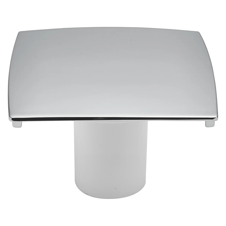 capot metal chrome 120 x 120 mm pour bonde de receveur valentin