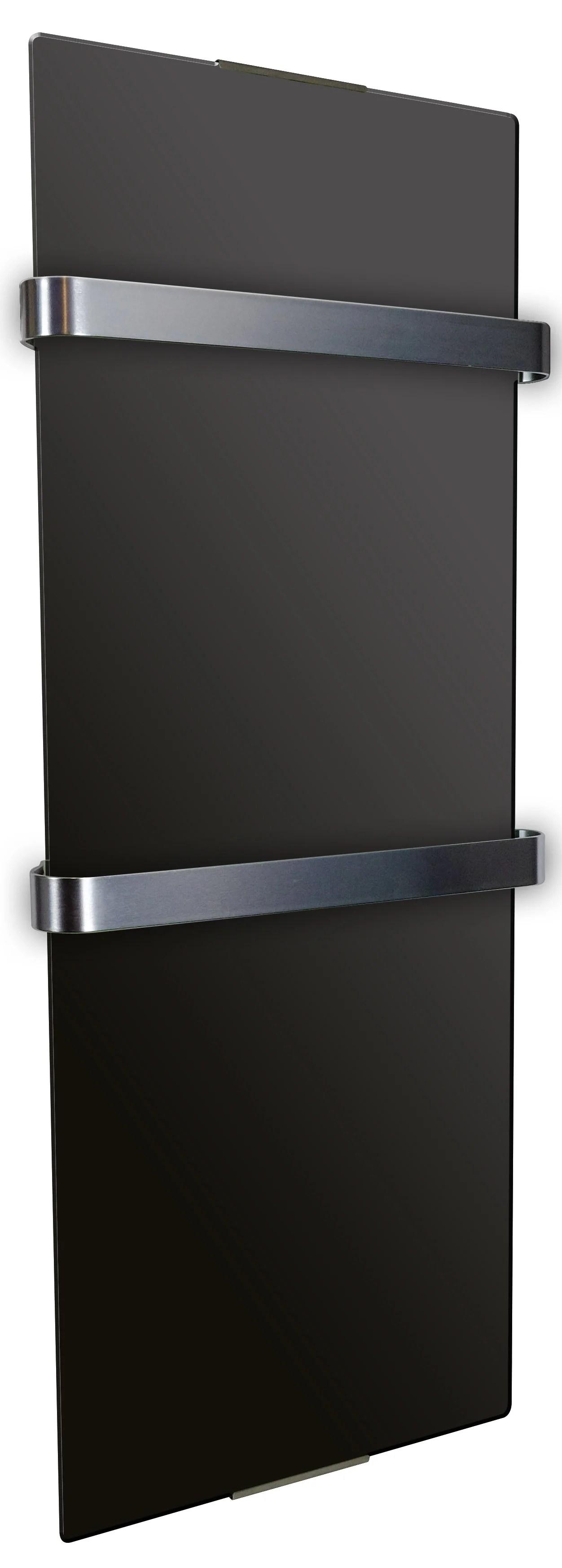 Radiateur Seche Serviette Rayonnant 1200 W Chemin Arte Uni Noir Vertical Leroy Merlin