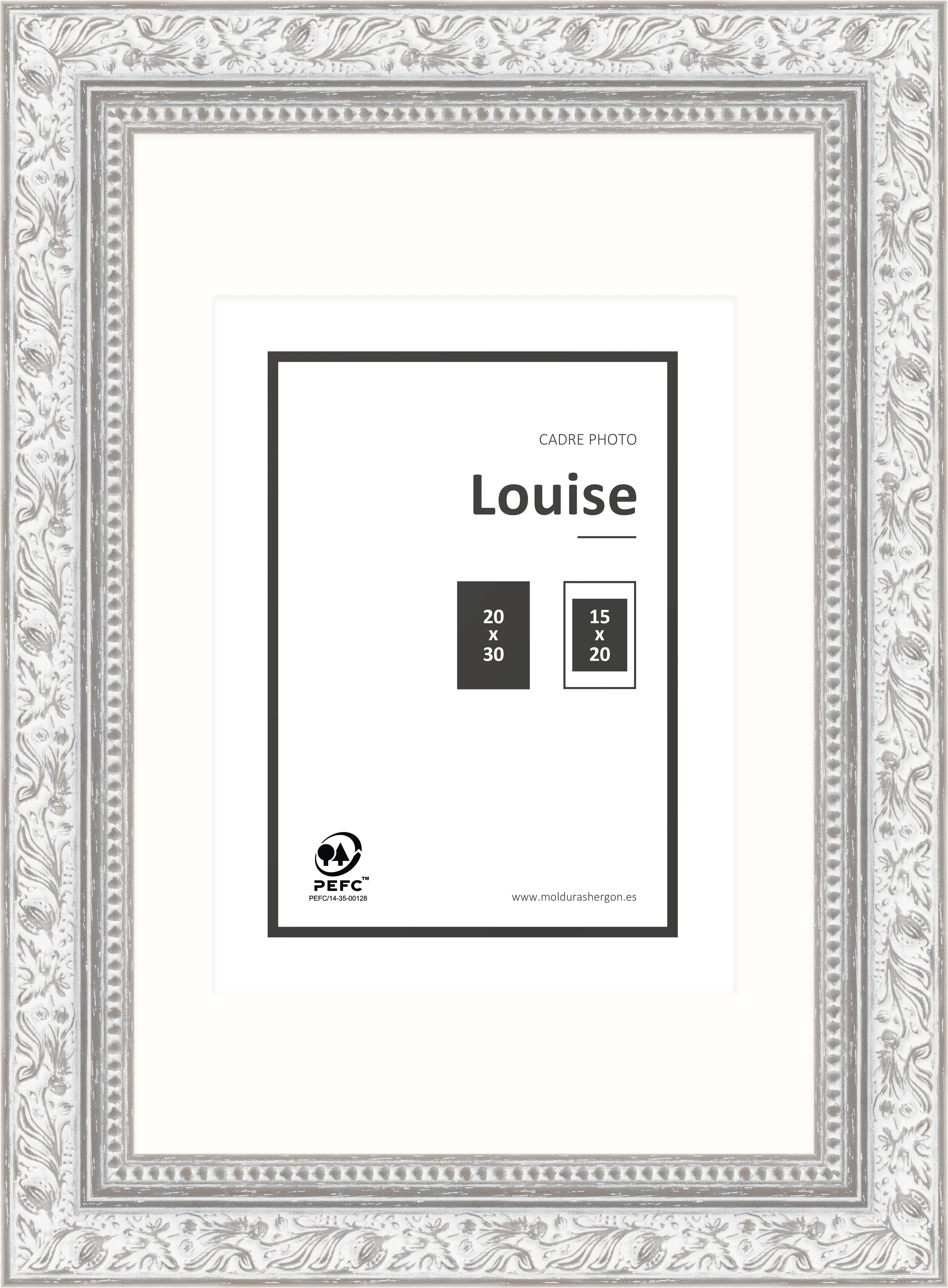 Cadre Louise L 20 X H 30 Cm Bois Gris Leroy Merlin