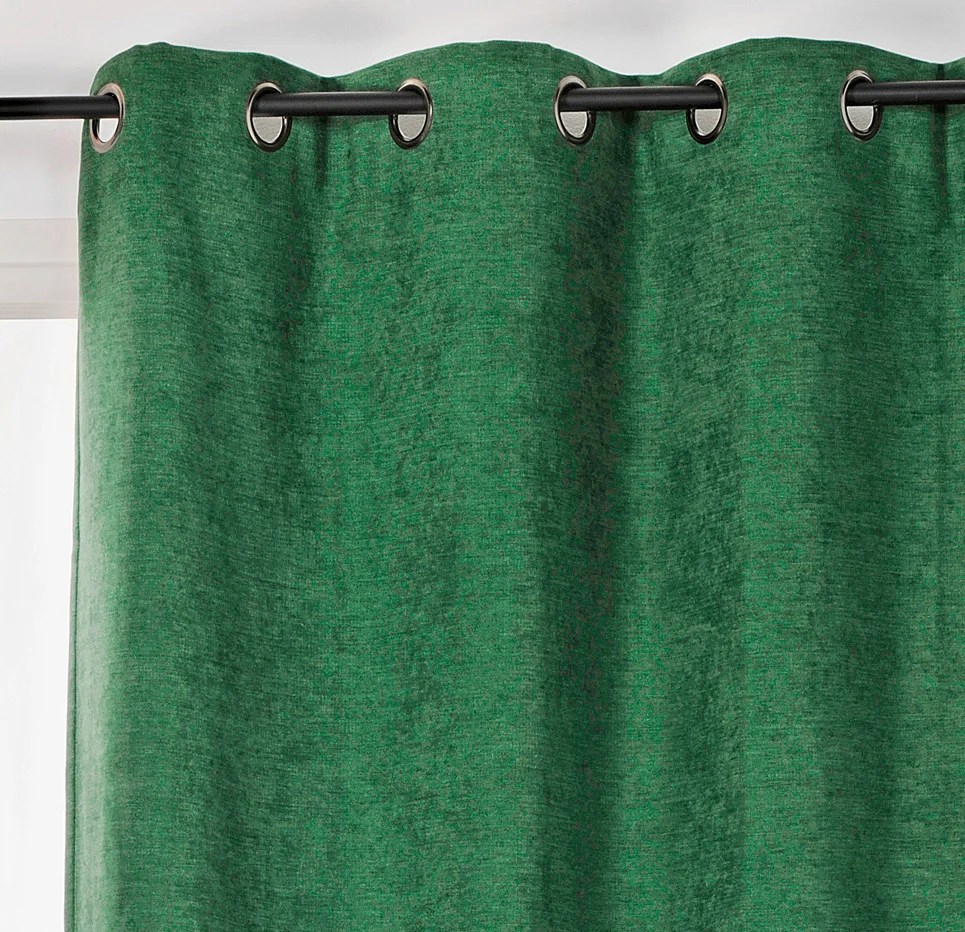 rideau occultant thermique alaska vert sapin l 140 x h 260 cm