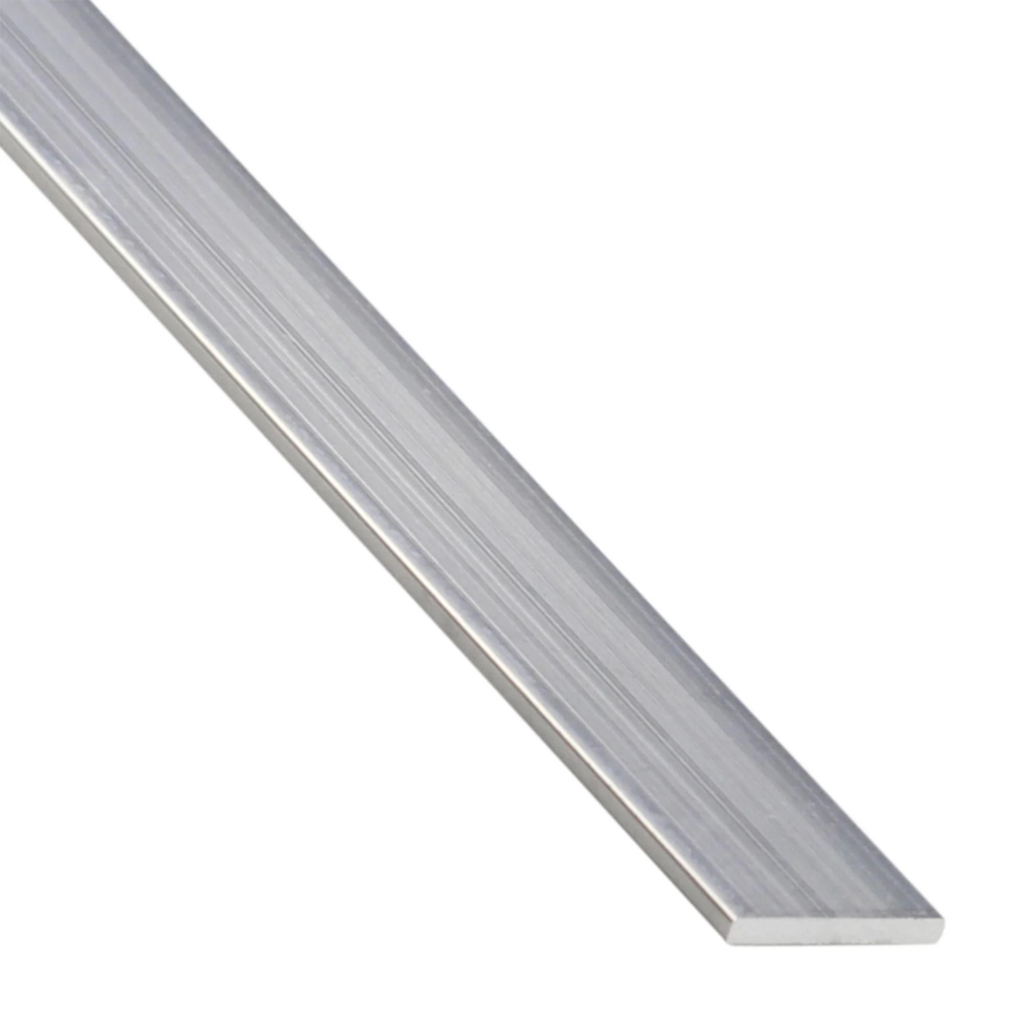 Plat Aluminium Brut Gris L 1 M X L 0 5 Cm X H 0 2 Cm Leroy Merlin