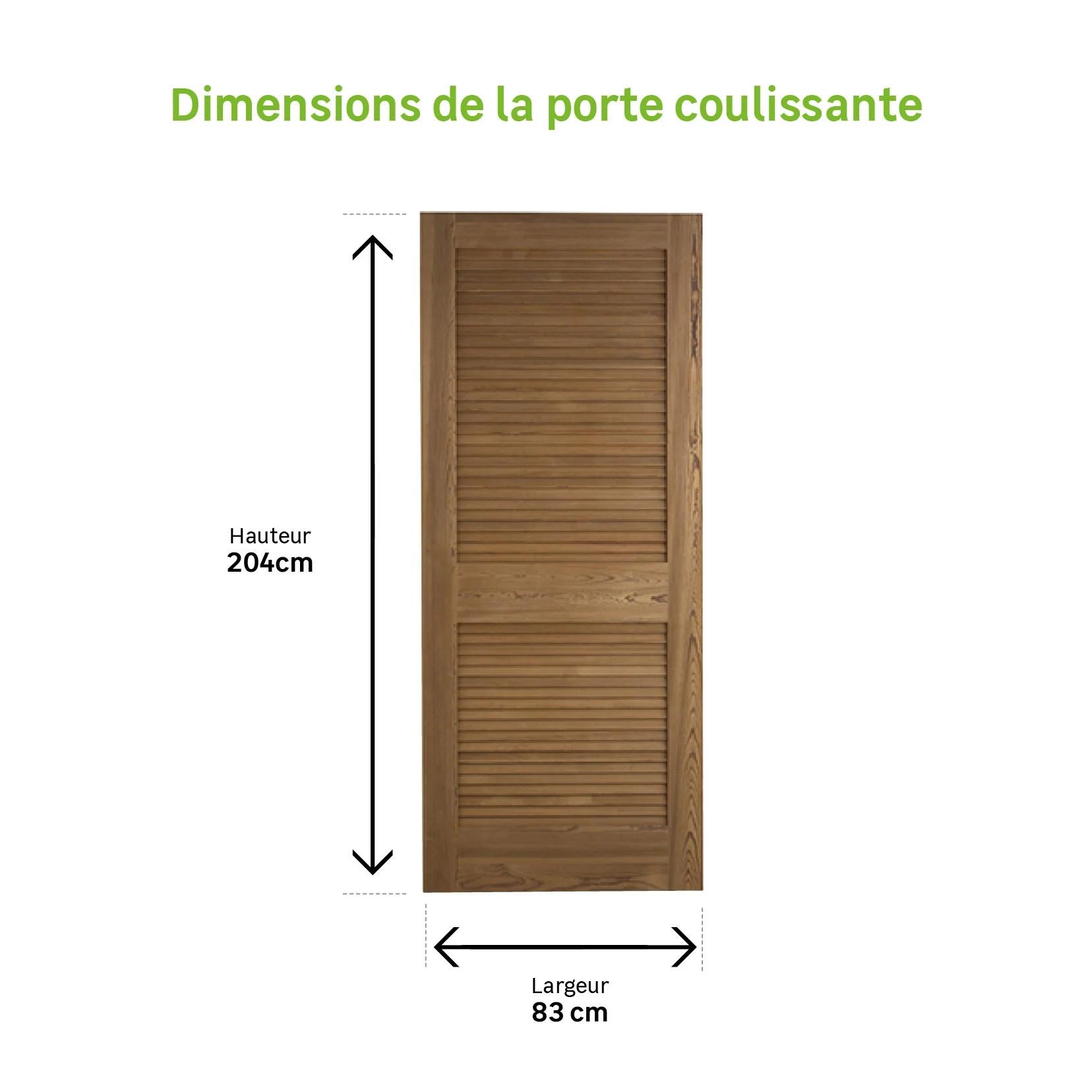 Porte Coulissante Bois Java H 204 X L 83 Cm Retrait 2h Retrait Magasin