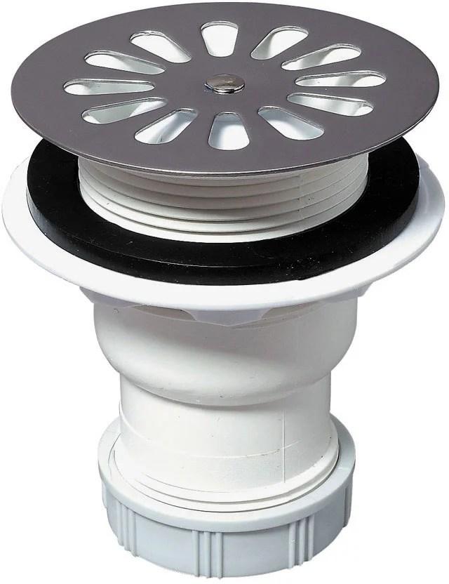 bonde receveur de douche diam 60 mm sortie verticale wirquin