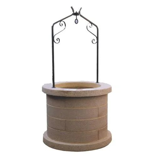 puits de jardin en pierre reconstituee