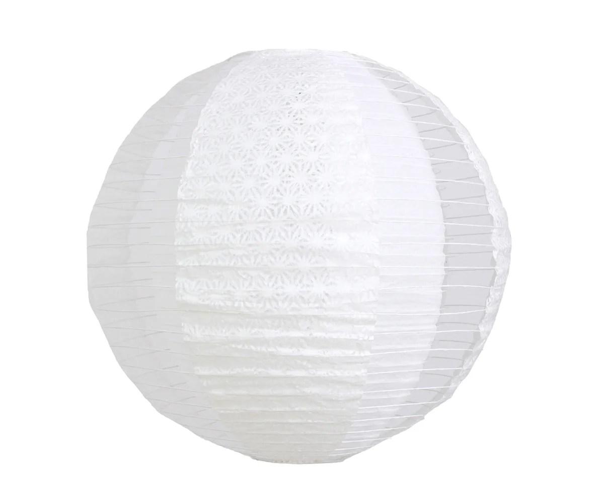 Boule Papier Natsuzen Papier Blanc Diam 40 Cm Inspire Leroy Merlin