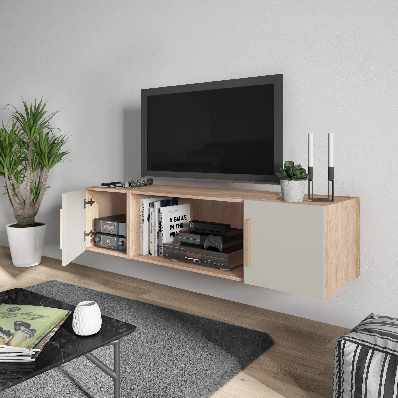 meuble tv a suspendre leroy merlin