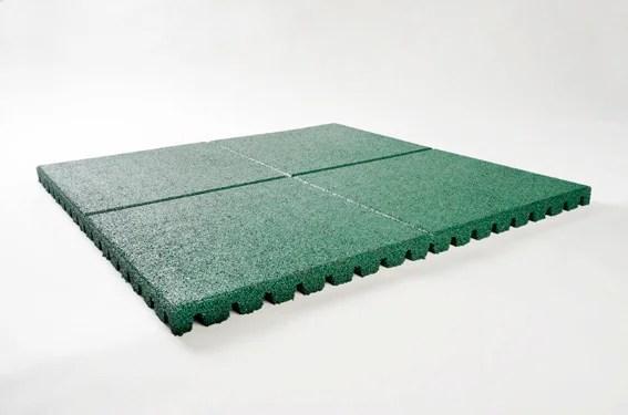 dalle de securite caoutchouc vert l 100 x l 100 cm leroy merlin