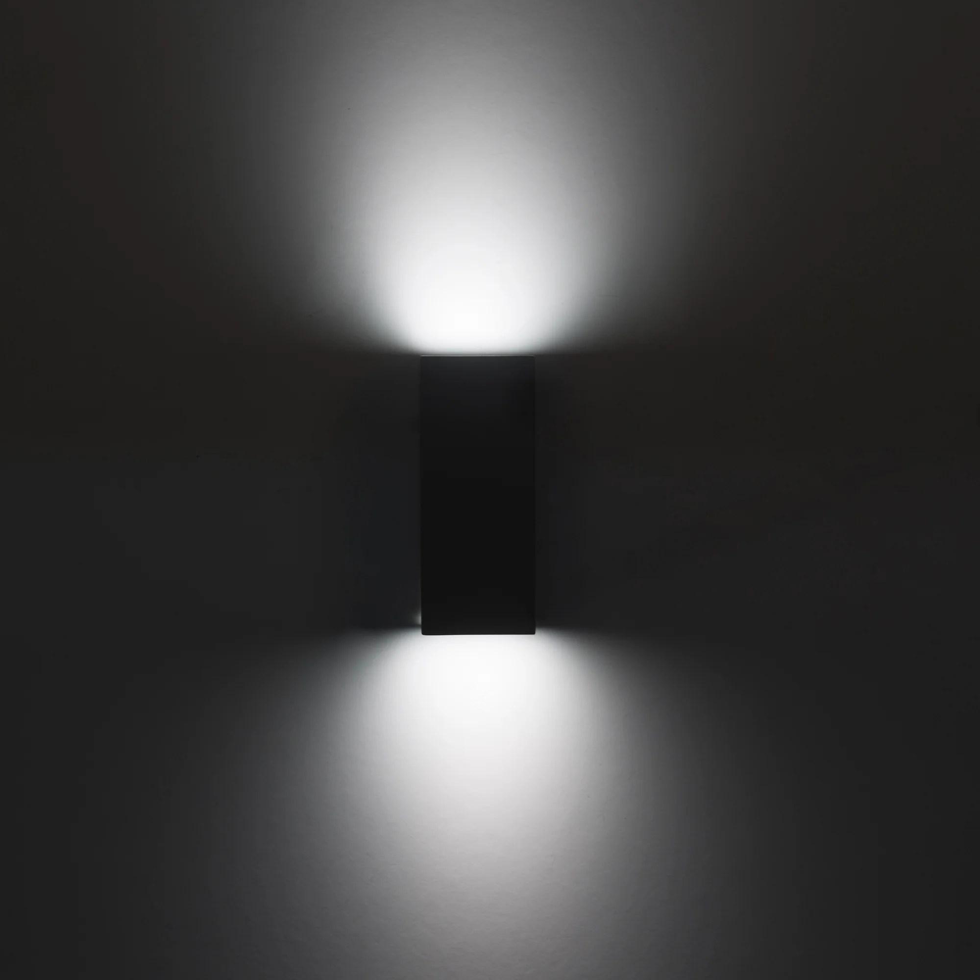 Applique Exterieur Gu10 Max 35w Noir Cube Acier Forlight Leroy Merlin
