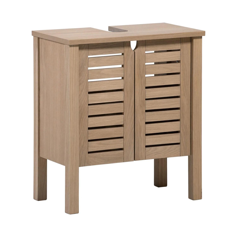 meuble sous lavabo l 60 x h 65 x p 33 cm talix