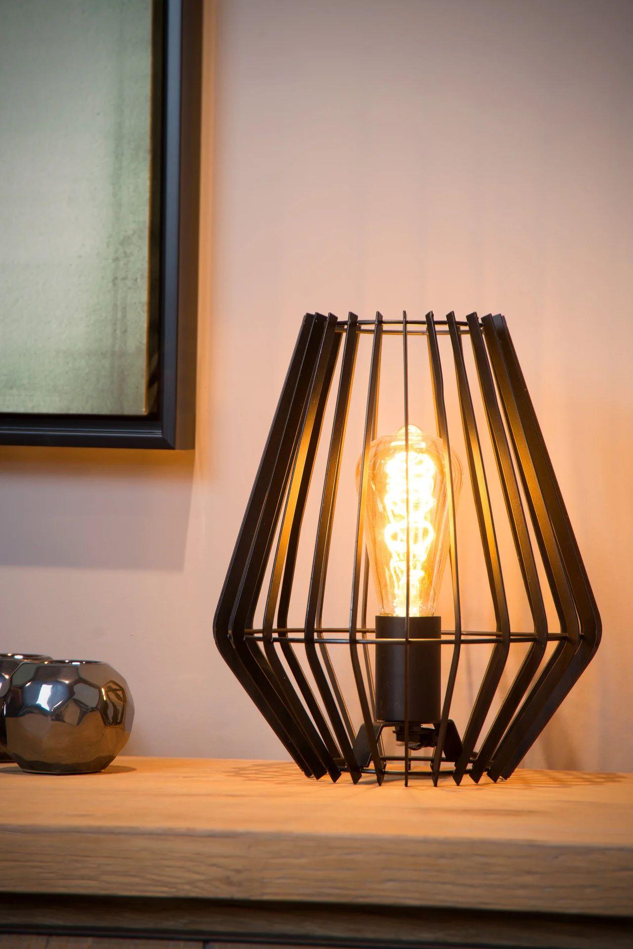 Lampe Industriel Metal Noir Lucide Reda Leroy Merlin