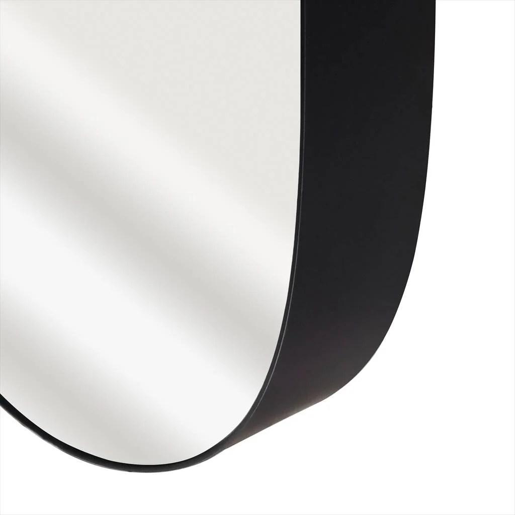 miroir ovale bloom noir l 50 x h 80 cm