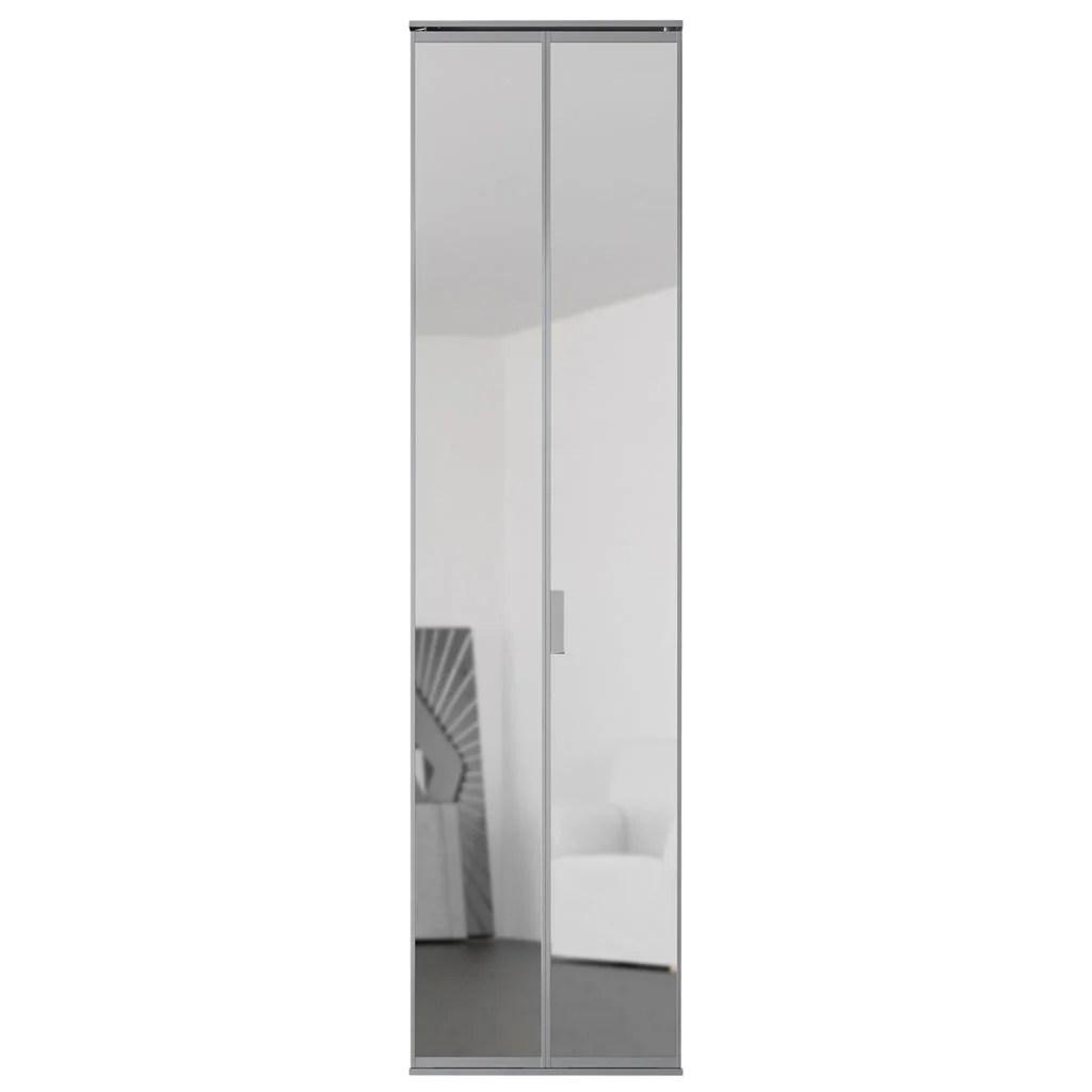 Porte De Placard Pliante Reflet Miroir Argent L65xh205cm Leroy Merlin