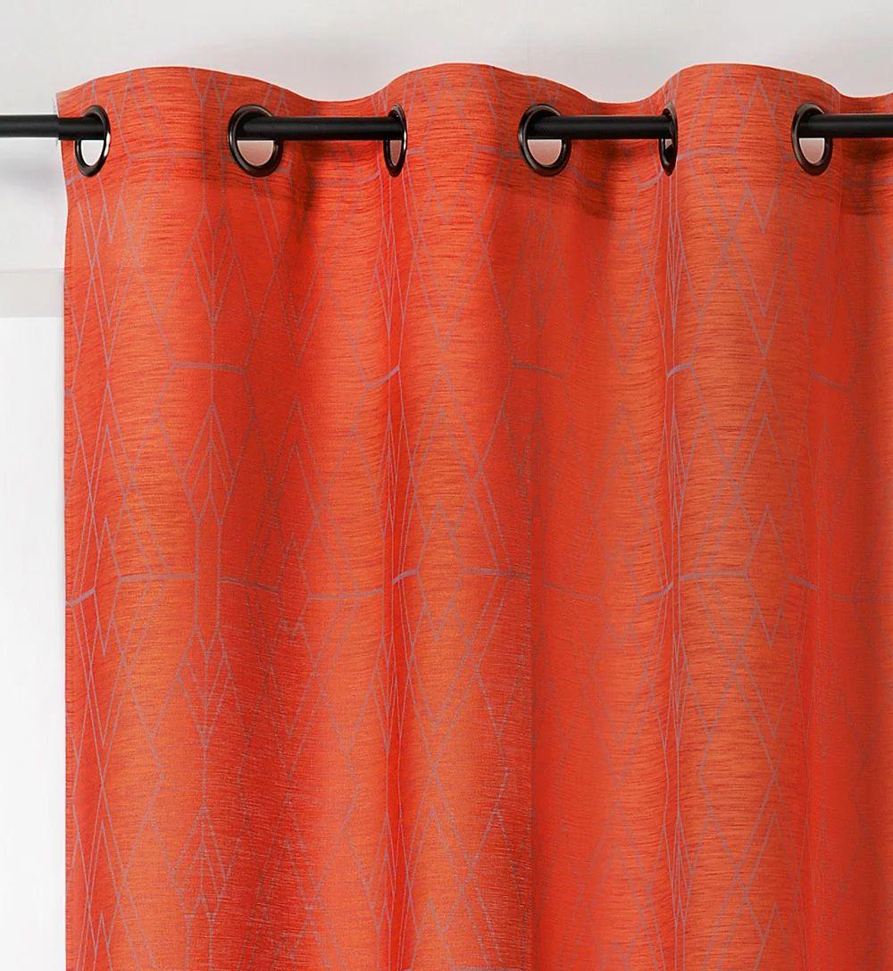 voilage orange l 140 x h 275 cm