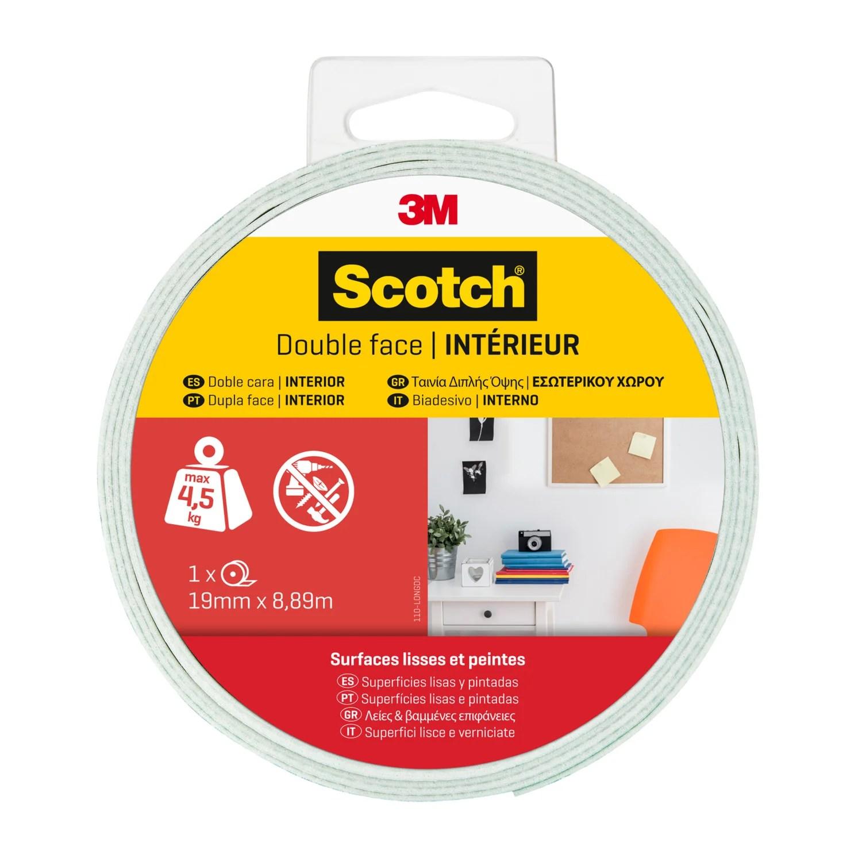 Ruban Adhesif Double Face Scotch Interieur L 8 89 M X L 19 Mm Leroy Merlin