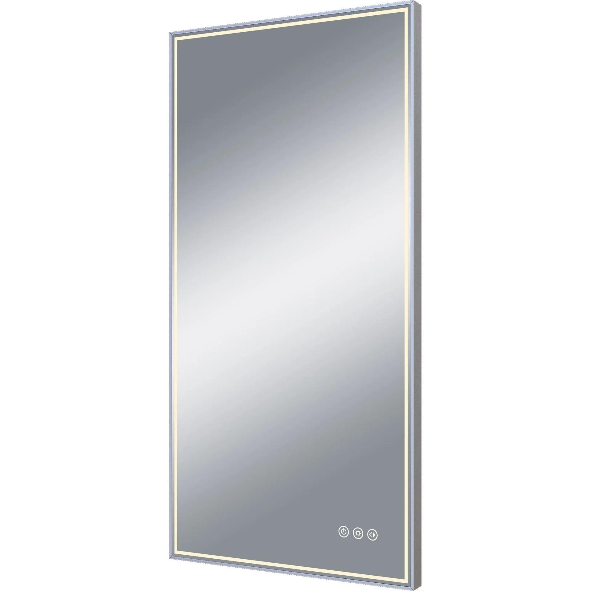 Miroir Lumineux Avec Eclairage Integre L 45 X H 90 Cm Neo Leroy Merlin