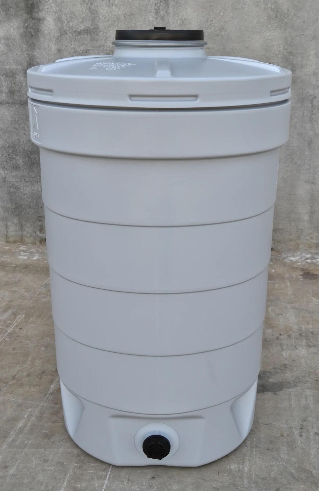 Recuperateur D Eau Aquatonne Schutz Cylindrique Gris 500 L Leroy Merlin