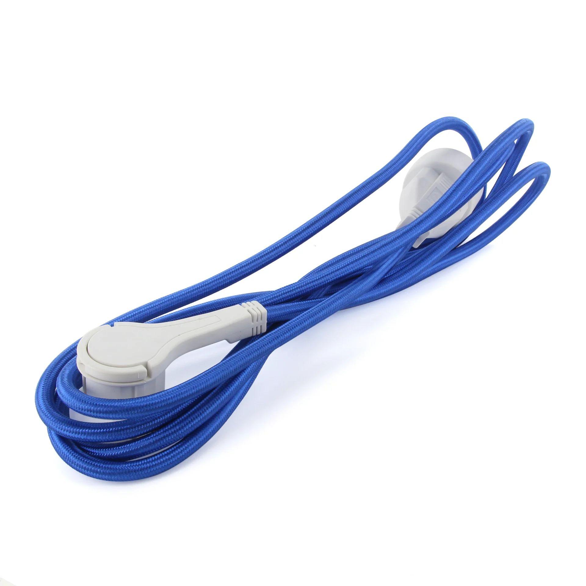 Rallonge Textile Electrique Menager Avec Terre L 3 M Ho5vvf 3g1 5 Bleu Leroy Merlin