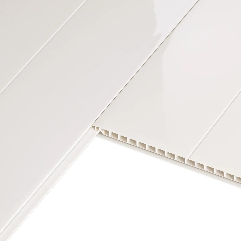 Lambris Pvc Blanc Artens L 400 X L 37 Cm X Ep 8 Mm Leroy Merlin