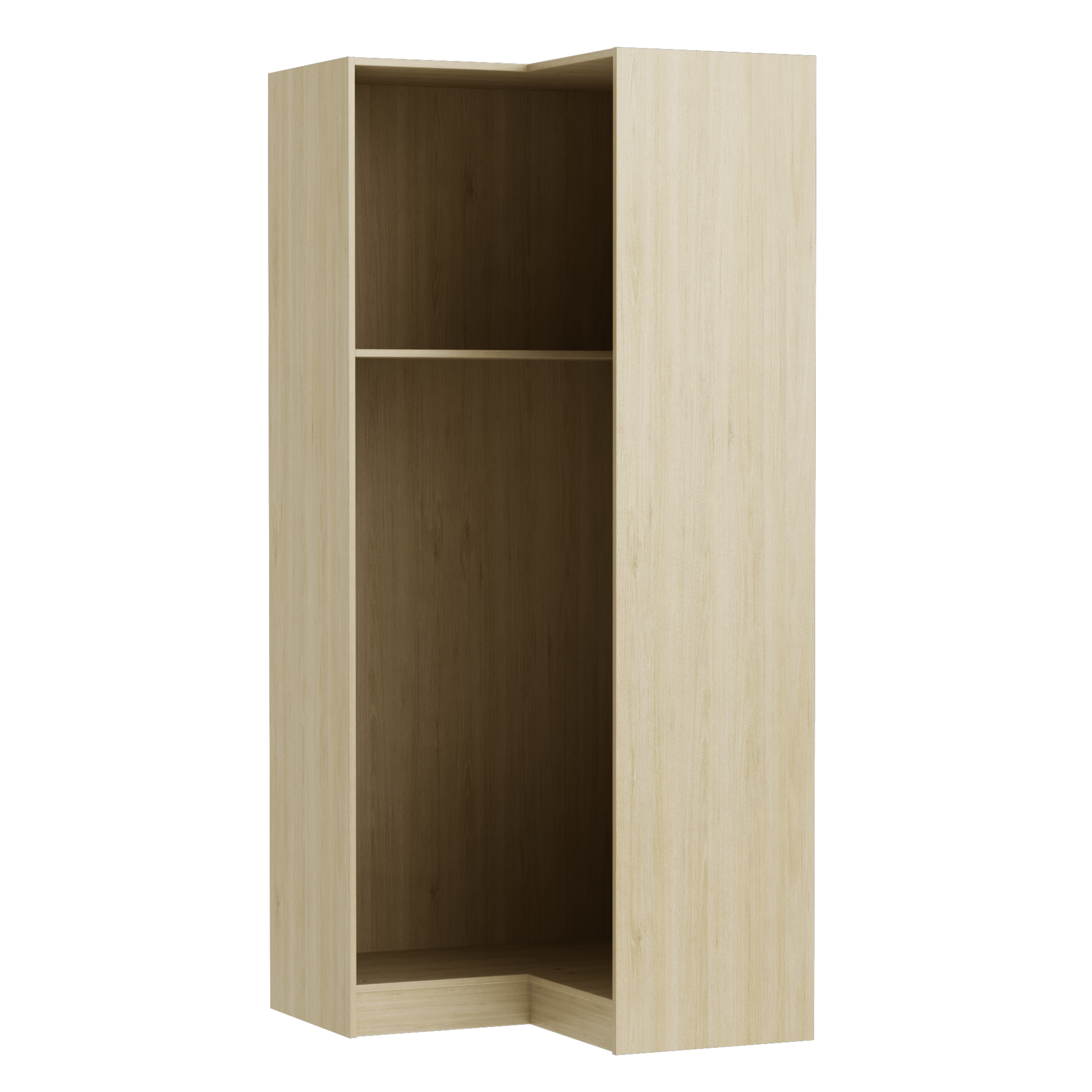 Dressing D Angle Spaceo Home Effet Chene Naturel H 200 X L 87 X P 45 Cm Leroy Merlin
