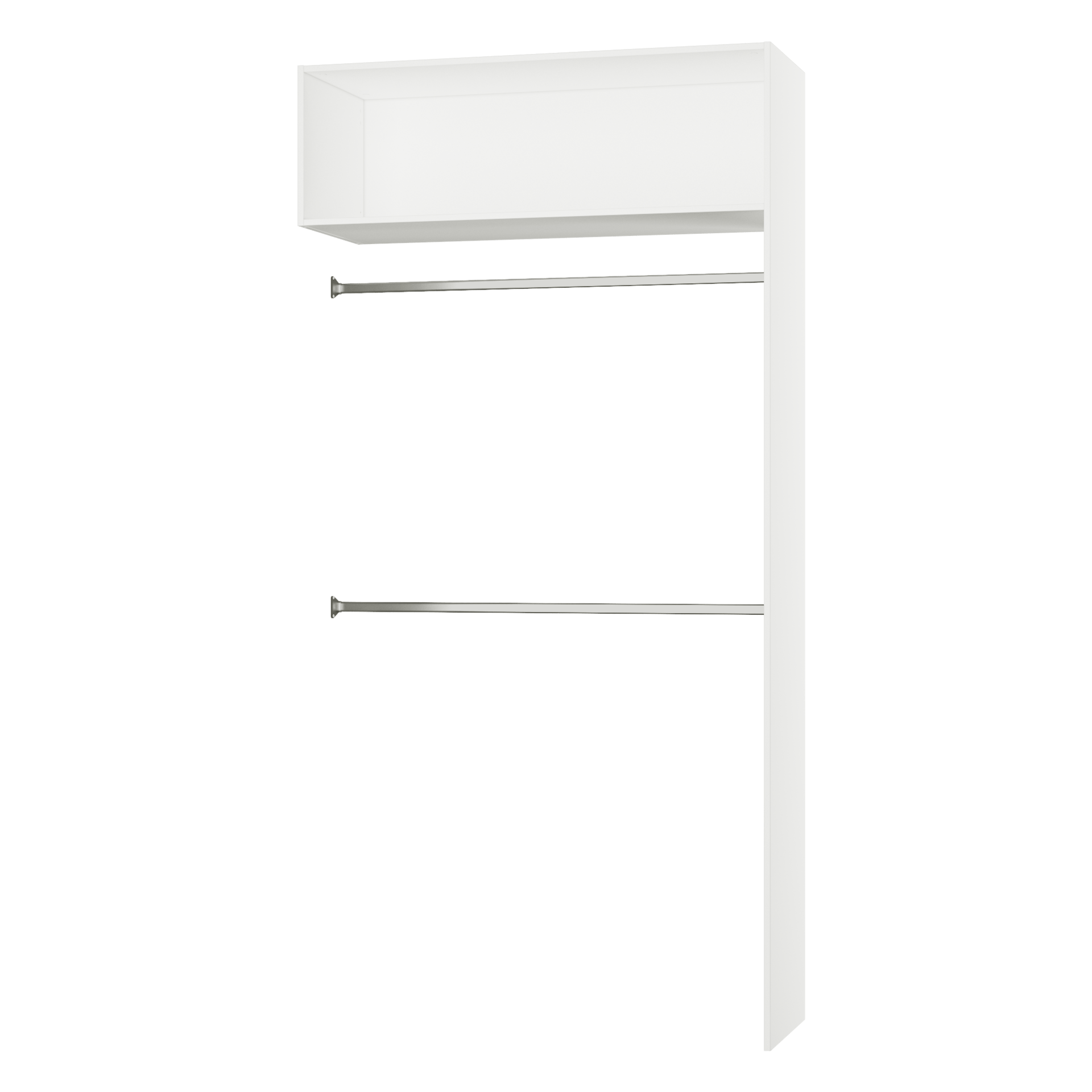 Penderie Extensible Spaceo Home Blanc H 240 X L 120 X P 45 Cm Leroy Merlin