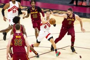 Les Raptors marquent 87 points en une demie face aux Cavaliers