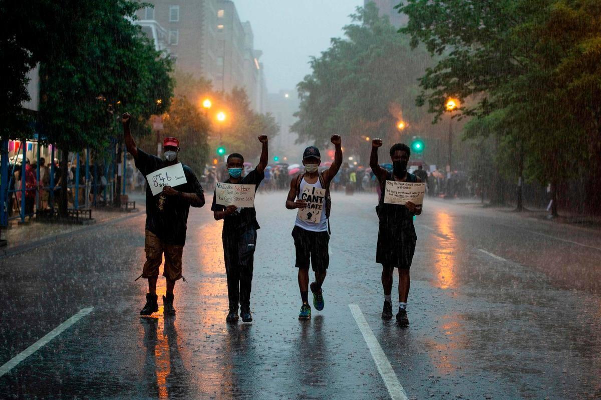 [IMAGES] Mobilisation massive à Washington et cérémonie pour George Floyd