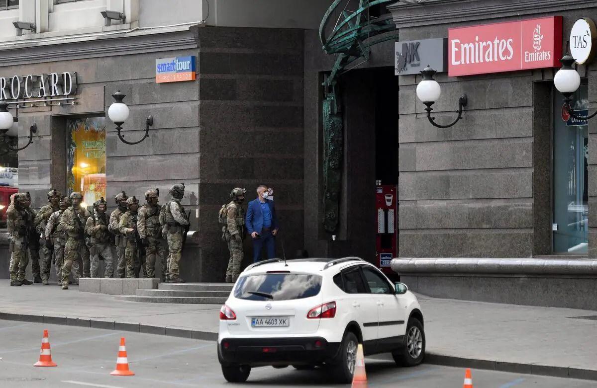 Ukraine : arrestation d'un preneur d'otage dans un centre d'affaires à Kiev