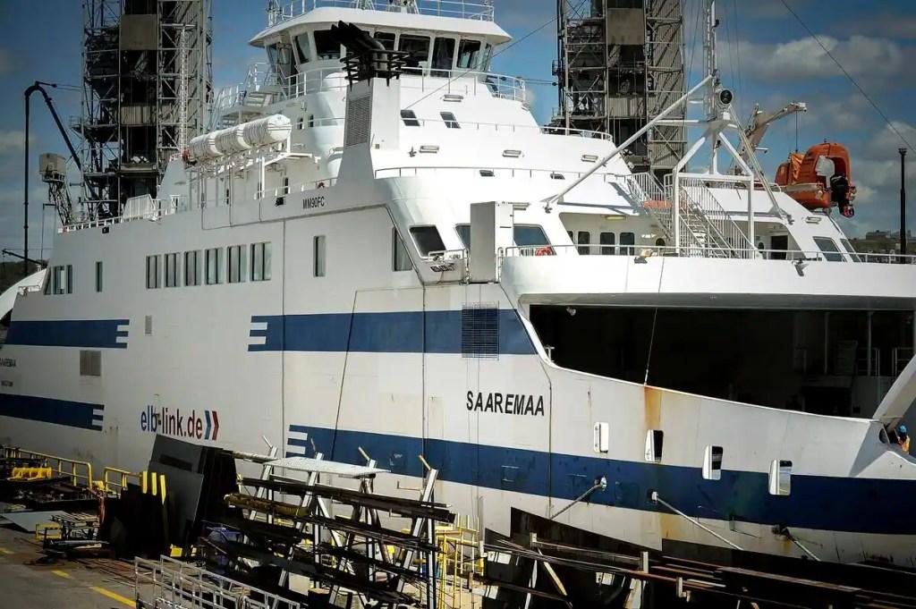 Le NM Saaremaa en panne avant même d'arriver à Matane