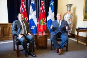 Malentendu entre Ford et Legault à propos des paliers d'alerte par couleurs