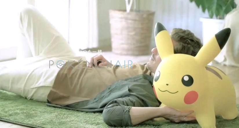 Pikachu helps you take a nap