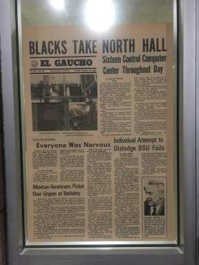 News paper written in 1968 about the protest.