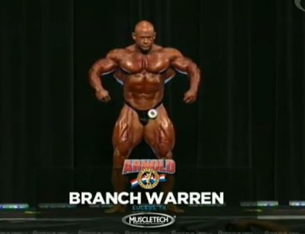 branch warren on stage at the Arnold Classic in Columbus, Ohio in 2012