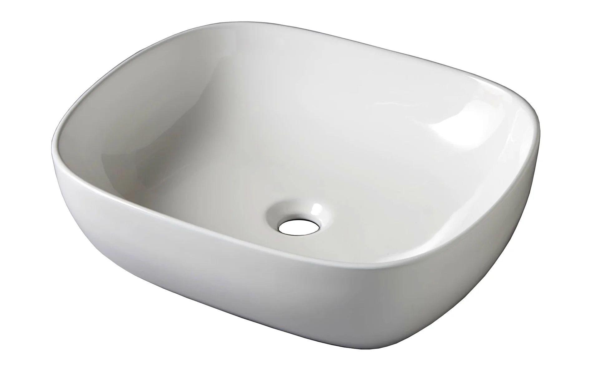 Vasque A Poser Ceramique L 49 5 X P 40 5 Cm Blanc Zelie Leroy Merlin
