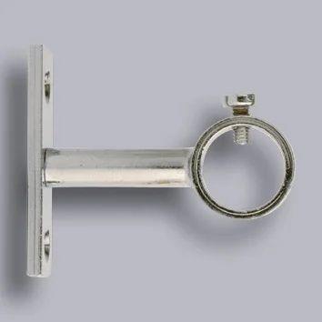 pitons barre de penderie chrome 16 mm aluminium gris