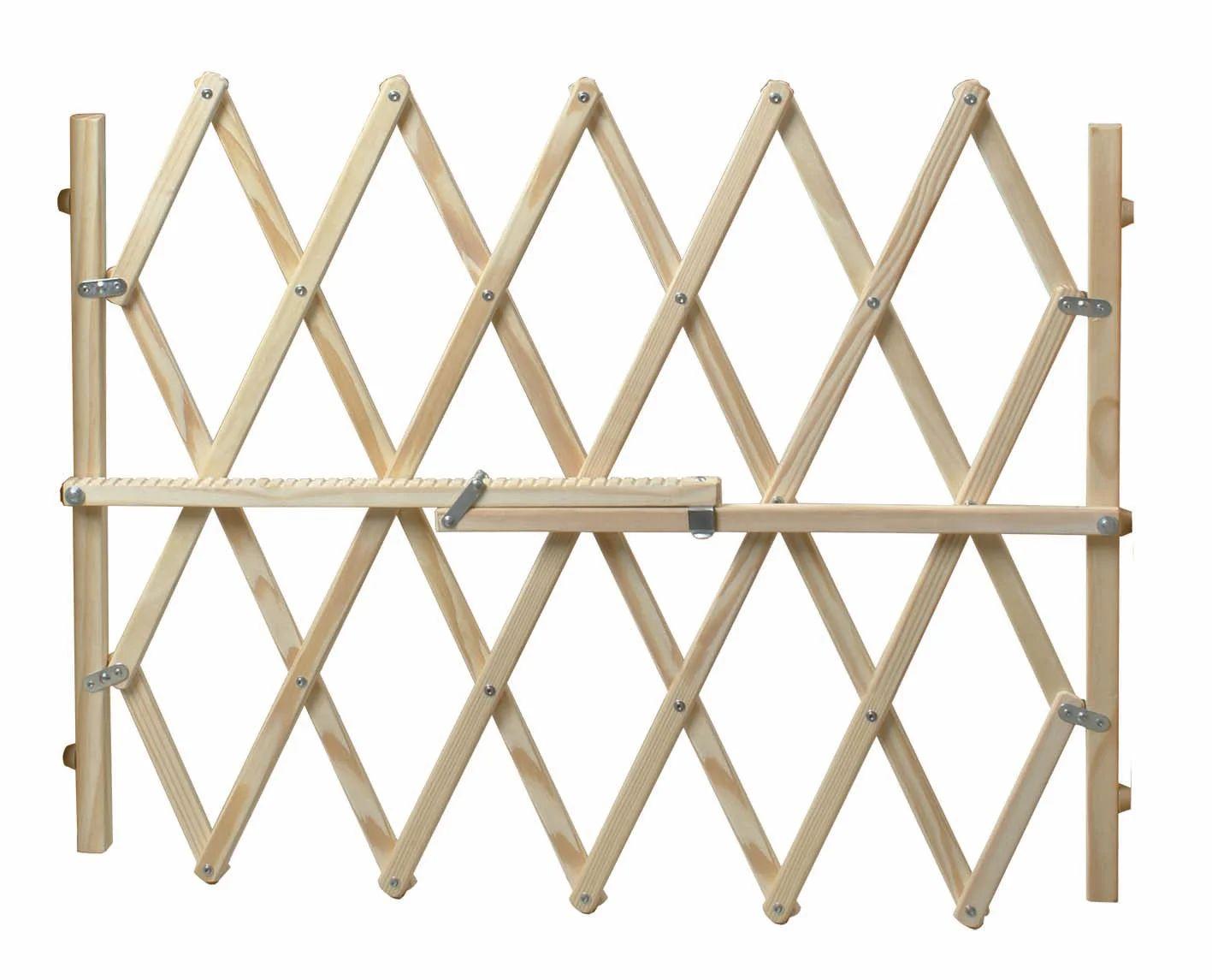 barriere extensible animaux bois l 65 107 cm h 83 cm