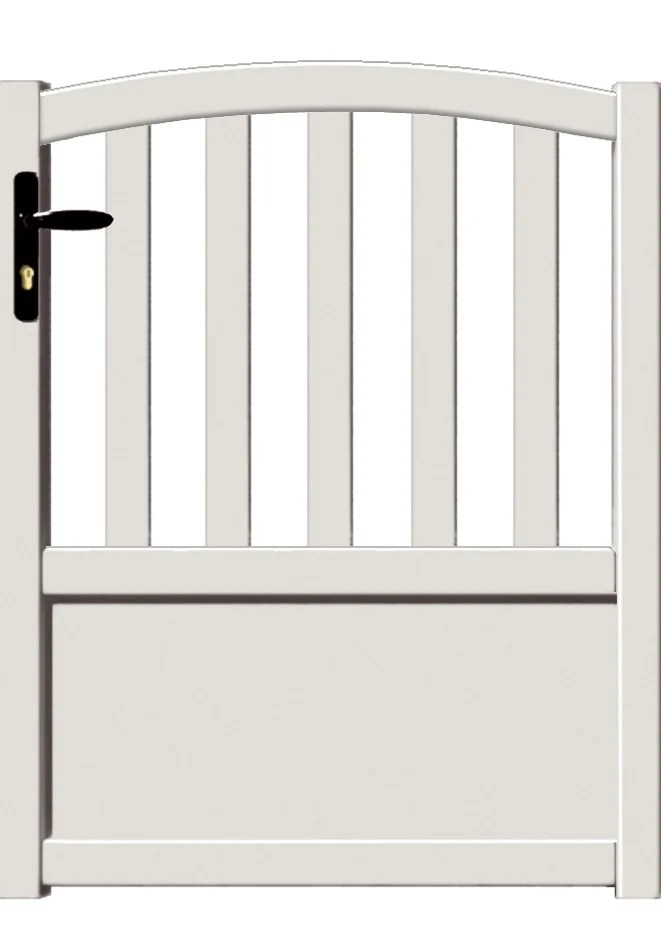 portillon battant aluminium loray blanc