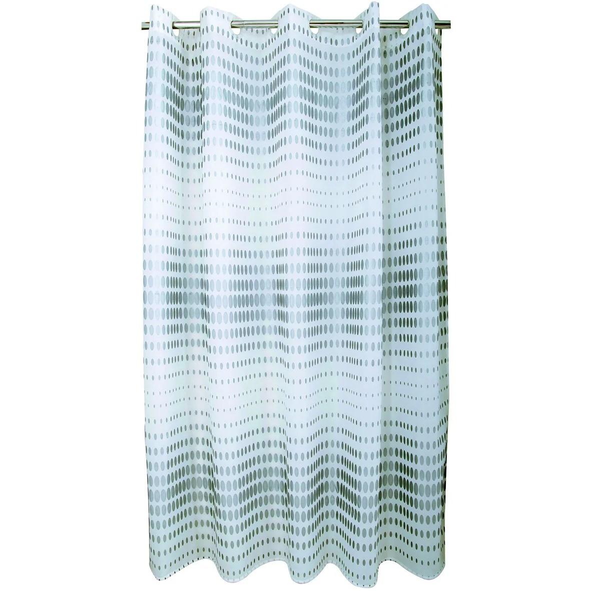 rideau de douche en textile argent l 180 x h 200 cm flash sensea