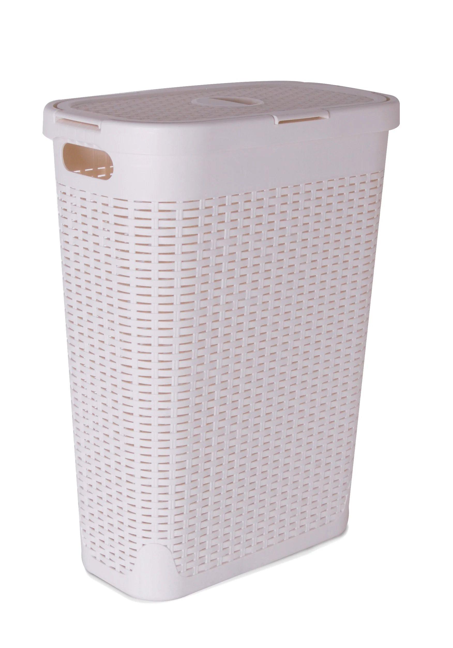 Panier A Linge Plastique Cottage Blanc L 26 8 X H 60 X P 46 2 Cm Leroy Merlin