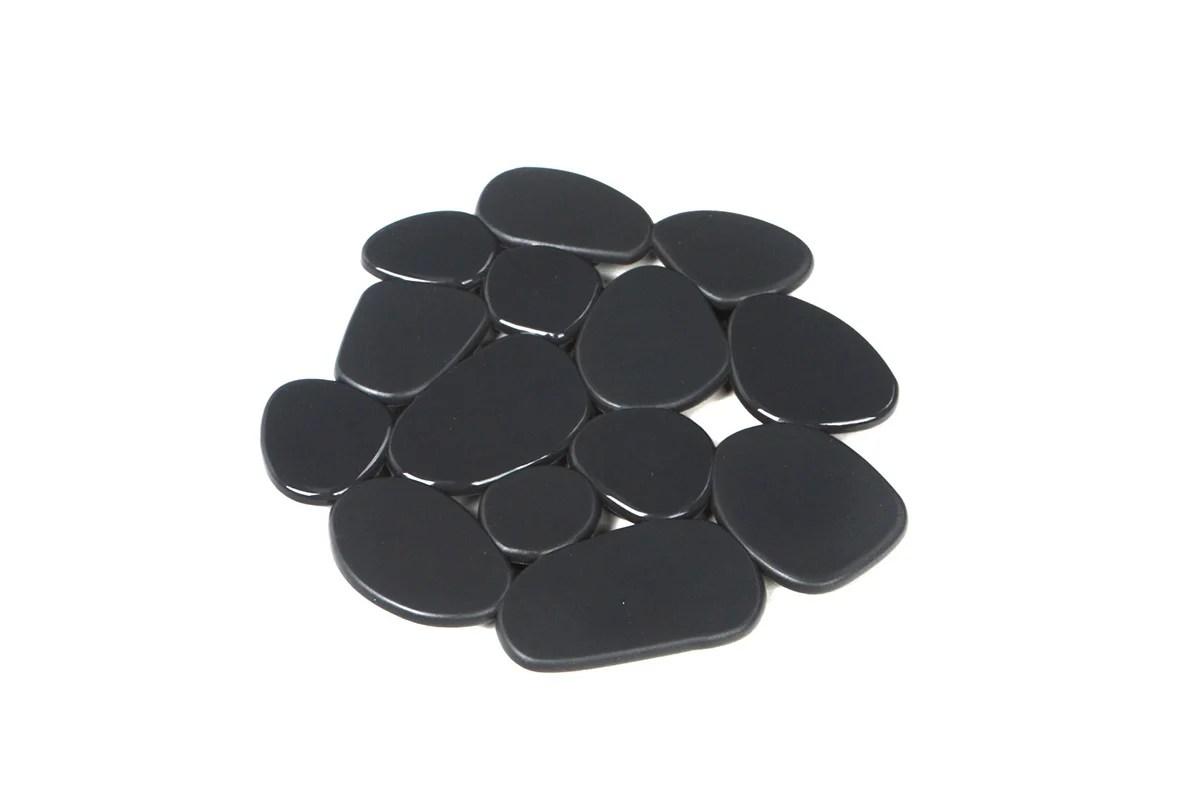 tapis antiderapant gris pour baignoire douche stone sensea