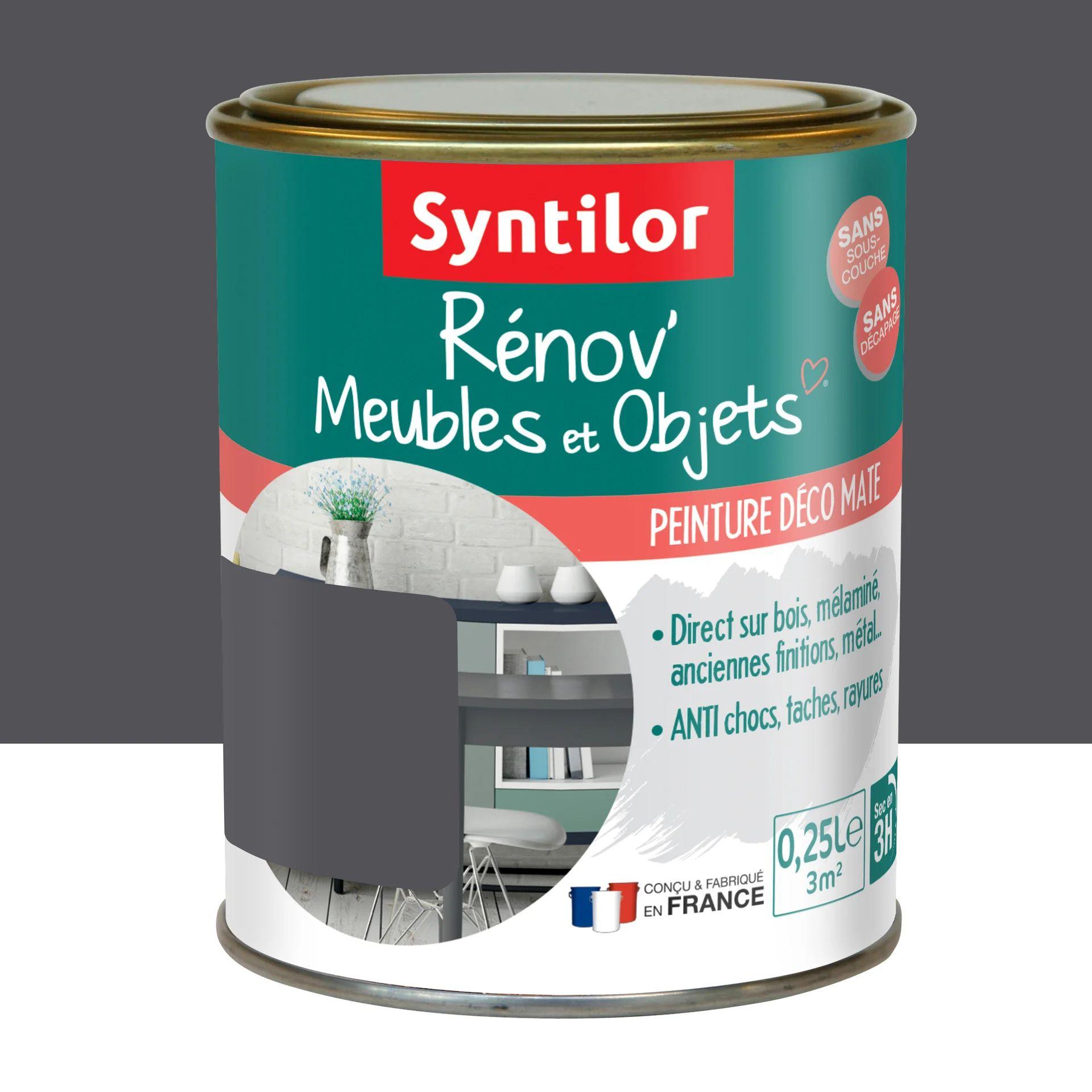 Peinture Meuble Et Boiserie Renov Syntilor Gris Design Mat 250 Ml Leroy Merlin