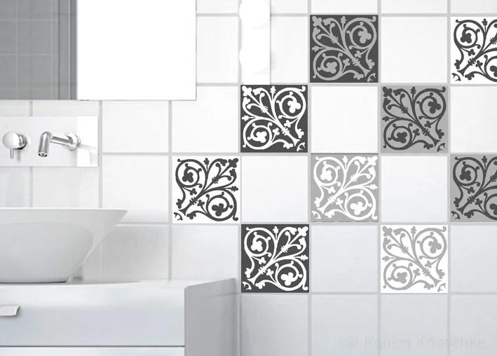 lot de 9 stickers adhesifs carrelage mural carreaux de ciment baroq 10 cm x 10 c