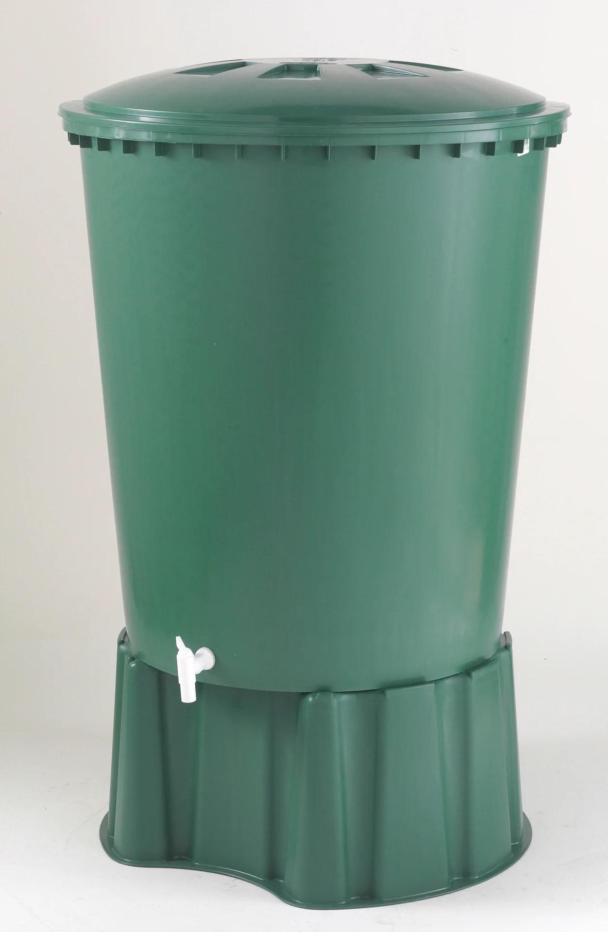 Recuperateur D Eau Aerien Garantia Cylindrique Vert 310 L Leroy Merlin